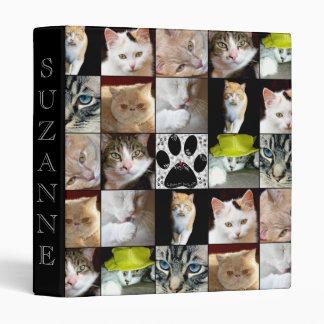 Various Cat Faces Collage Binder