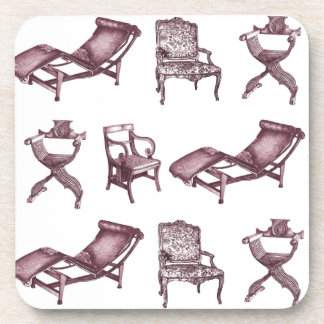 Various chairs coaster