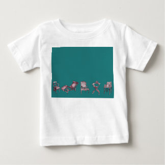 Various chairs in dark turquoise baby T-Shirt