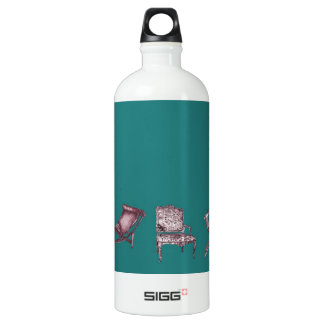 Various chairs in dark turquoise SIGG traveler 1.0L water bottle