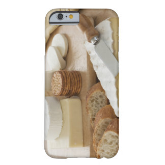 Various cheeses and bread on table barely there iPhone 6 case