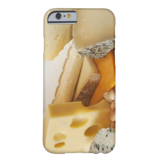 Various cheeses on chopping board barely there iPhone 6 case