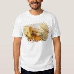 Various cheeses on chopping board tshirts