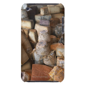Various cheeses on market stall, full frame iPod touch Case-Mate case