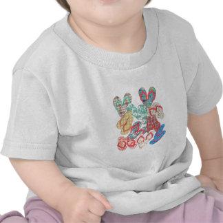 Various colorful flip flops! tee shirts