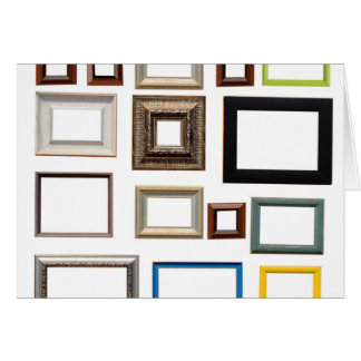 Various Colorful Picture Frames Card