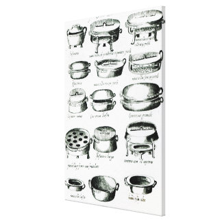Various Cooking Vessels, 1570 Canvas Print