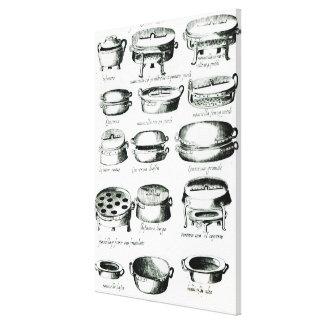 Various Cooking Vessels, 1570 Canvas Print