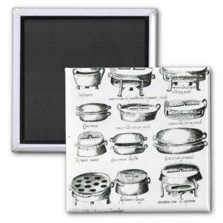 Various Cooking Vessels, 1570 Magnet
