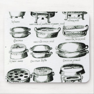 Various Cooking Vessels, 1570 Mouse Pad