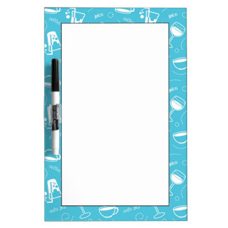 Various drinks dry erase whiteboards