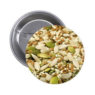 Various Eatable Seeds Pinback Button