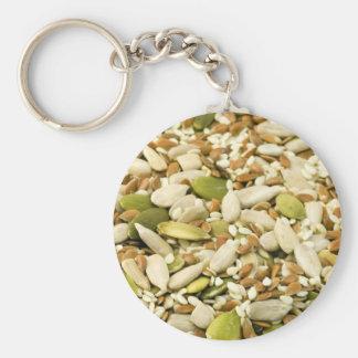 Various Eatable Seeds Key Chain