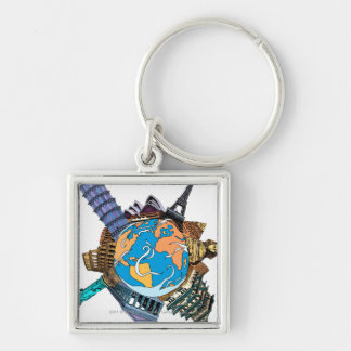 Various famous places of the world keychain