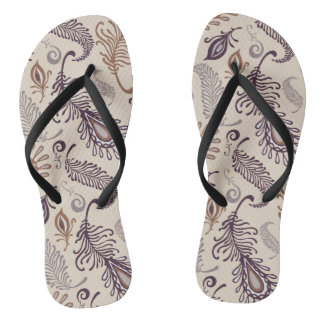 Various Feather Pattern Flip Flops