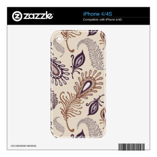 Various Feather Pattern iPhone 4S Skins