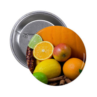Various Fruits 2 Inch Round Button
