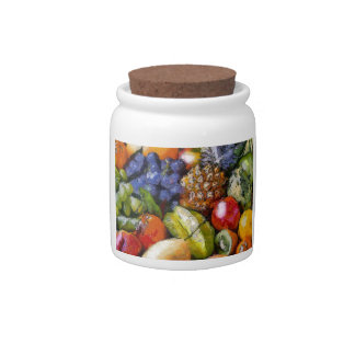 VARIOUS FRUITS CANDY JAR