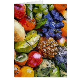 VARIOUS FRUITS GREETING CARD