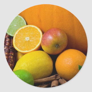 Various Fruits Classic Round Sticker