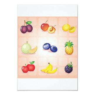 Various Fruits Invitations