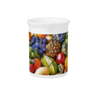 VARIOUS FRUITS DRINK PITCHER