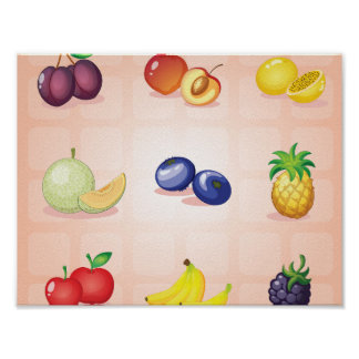 Various Fruits Poster