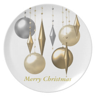 various hanging Christmas bauble Melamine Plate