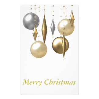 various hanging Christmas bauble Customized Stationery