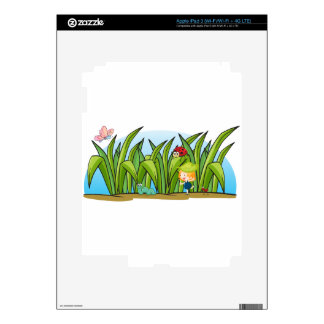 various insects and a girl iPad 3 skin