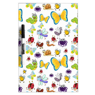 various insects dry erase whiteboards