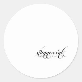 Various items classic round sticker