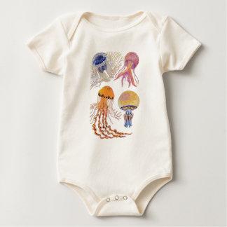 Various Jelly Fish Baby Bodysuit