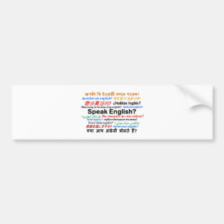 Various Language Products - Speak English? Bumper Sticker