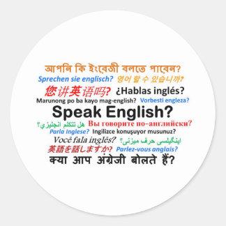 Various Language Products - Speak English? Classic Round Sticker