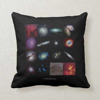 Various Milky Way photograph collages Throw Pillow