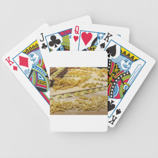 Various mix of fresh italian homemade pasta bicycle playing cards
