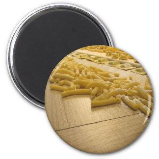 Various mix of fresh italian homemade pasta magnet