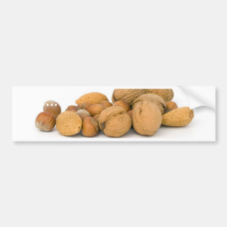 Various Nuts Including Hazelnuts Walnuts And Almon Car Bumper Sticker