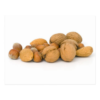 Various Nuts Including Hazelnuts Walnuts And Almon Postcard