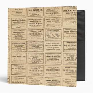 Various oil advertisements binder