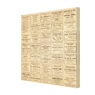 Various oil advertisements canvas print