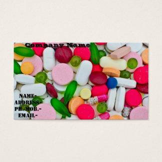 Various pill/medicament business card