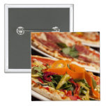 Various Pizza and Toppings Button