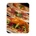 Various Pizza and Toppings Magnet