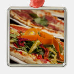 Various Pizza and Toppings Christmas Tree Ornaments