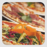 Various Pizza and Toppings Sticker