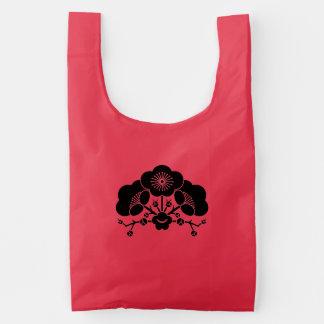 Various plum blossoms reusable bag