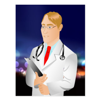 Various products for medical or science fields. postcard
