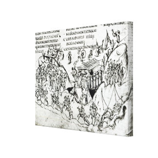 Various scenes illustrating a psalm 2 canvas print